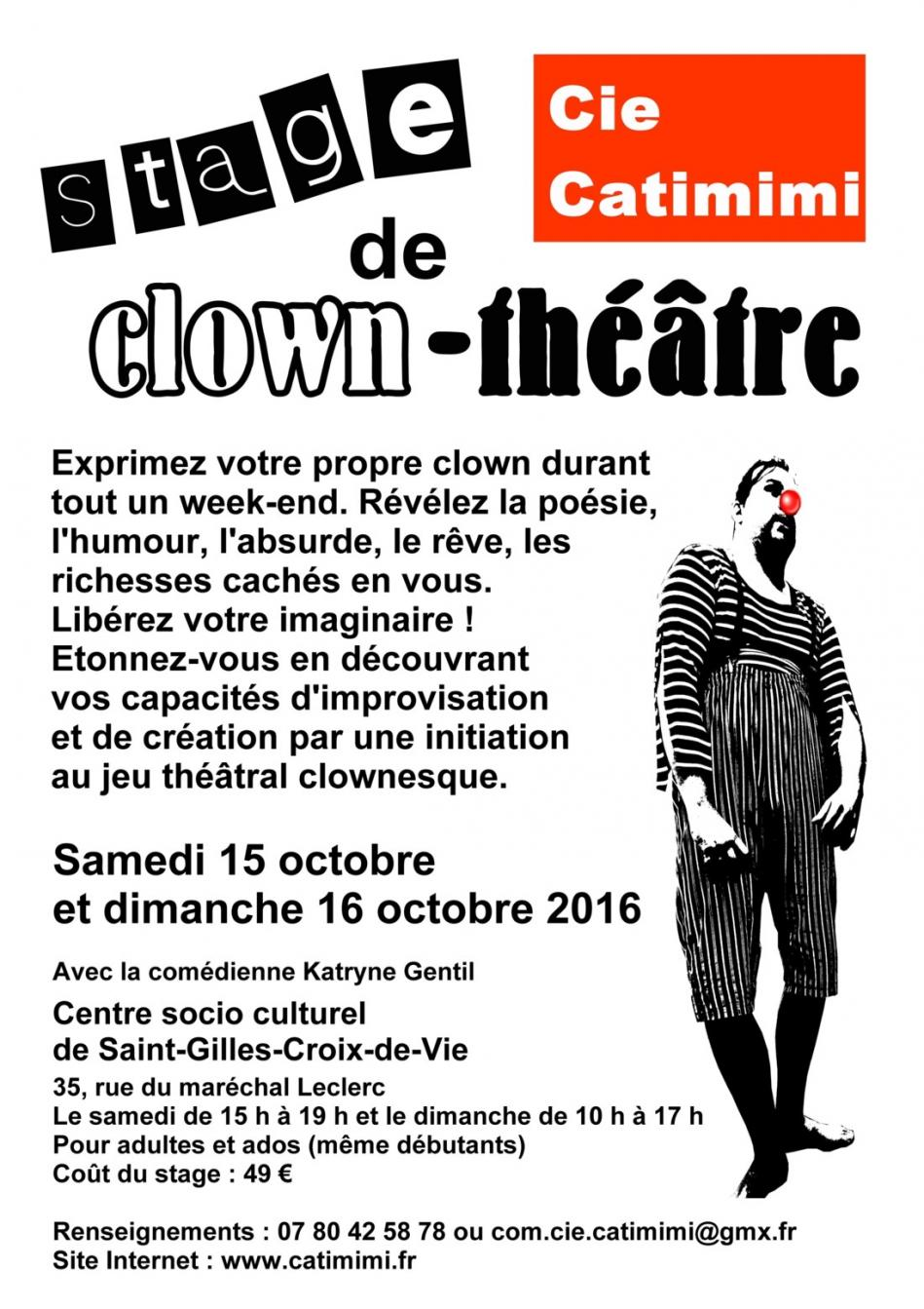 Cie catimimi stage clown theatre octobre 2016
