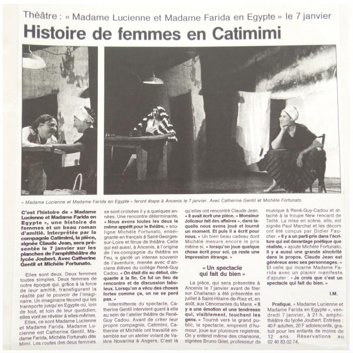 Lucienne et farida catimimi