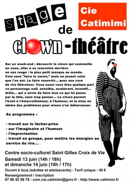 Stage clown theatre juin mail 1